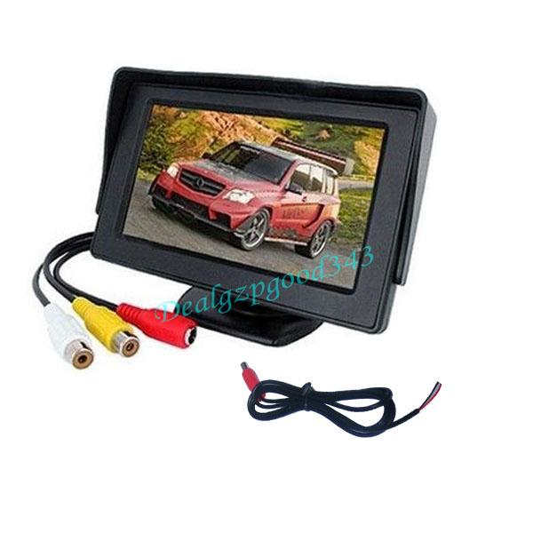 "4.3"" TFT LCD Car Rear View Reversing Color Monitor VCR DVD For Backup Camera"