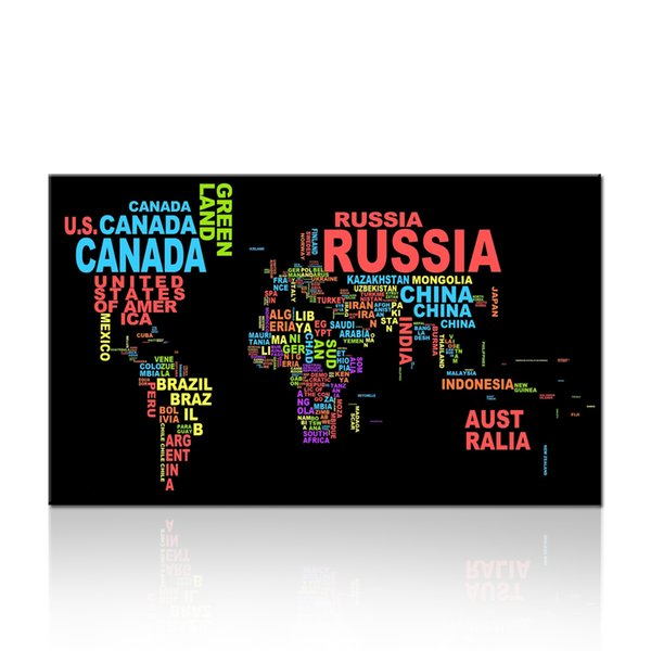 Various Countries Name Design Painting Wall Artwork Dropship Print For Living Room and Bedroom Decor Home Decoration Wall Hanging Unframed