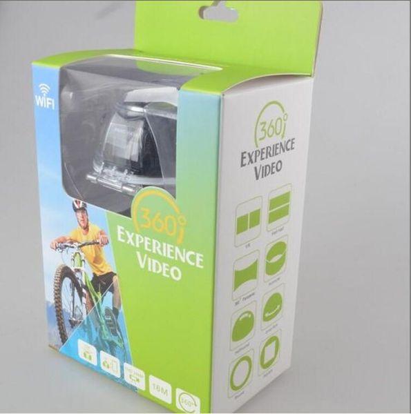 New sports camera V1 360 degree sports camera mini 3D wifi sports DV 4K full HD 30m waterproof outdoor action video cameras