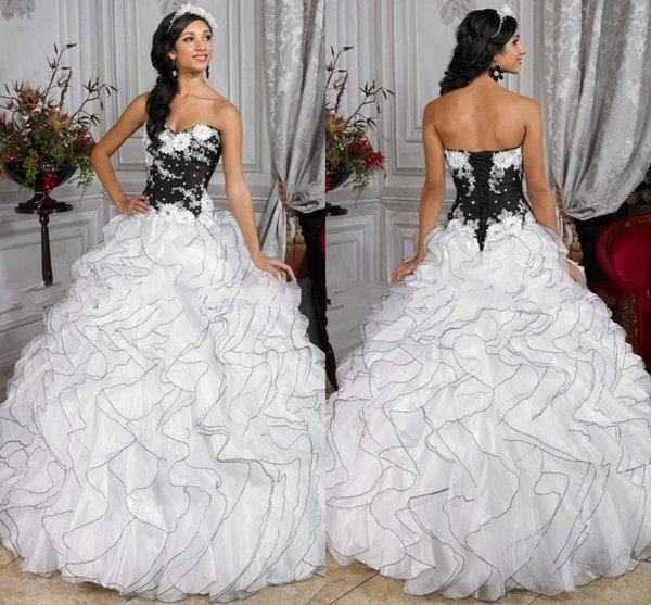 2016 gothic wedding dress ball gowns flowers tiers organza princess 2016 gothic wedding dress ball gowns flowers tiers organza princess gowns bridal dresses lace up white mightylinksfo