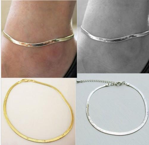 snake chains Anklets Barefoot Sandals Chain Anklets Women Fashion Jewelry Metal Silver toe Chain Bracelet Female Exquisite Anklet