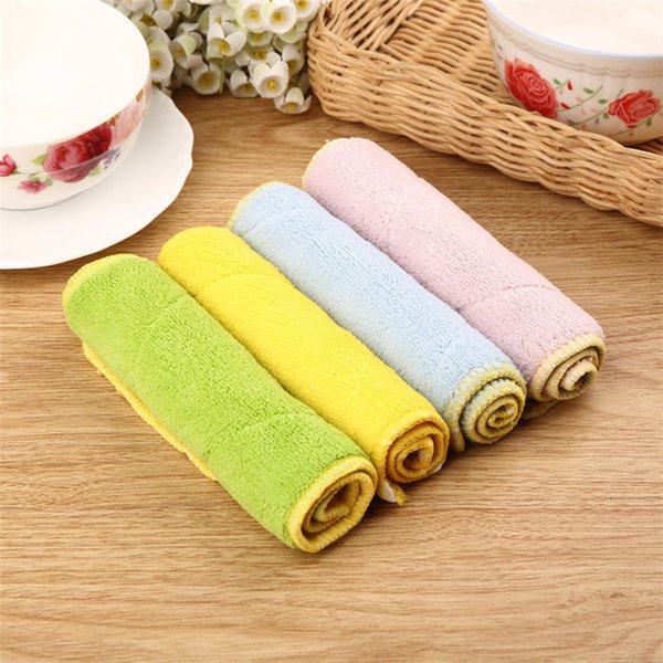 Superfine Faser Waschtuch Magic Kitchen Reinigungstuch Multi Farben Verdickung Wasseraufnahme Gericht Tuch IA1019