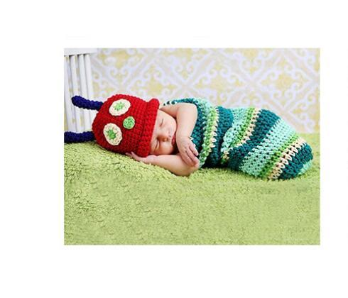 HOT DESIGN Kids photo clothing baby sleeping bags 10pcs/lot size for 0-3M pure handmade cotton yarn can custom your logo