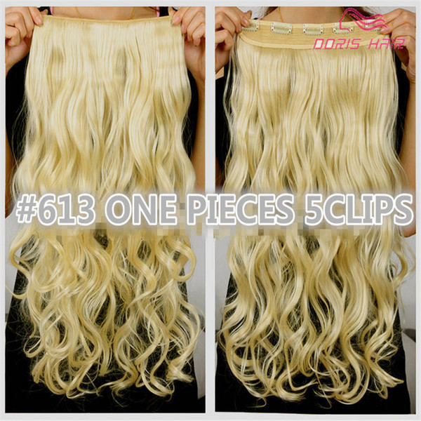 best selling 1pcs clip in hair extension women hair 30colors one piece 2pack for full head long wavy hair extension free shipping