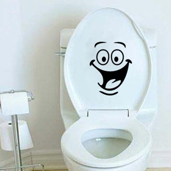 22 * 18 cm dos desenhos animados boca grande vaso sanitário adesivos de parede decorações à prova d 'água cartazes papel crianças casa de banho decalque casa de Banho adesivo