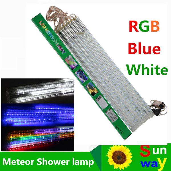 20cm 30cm 50cm meteor shower rain tubes led mini meteor lights led strings light 8pcs