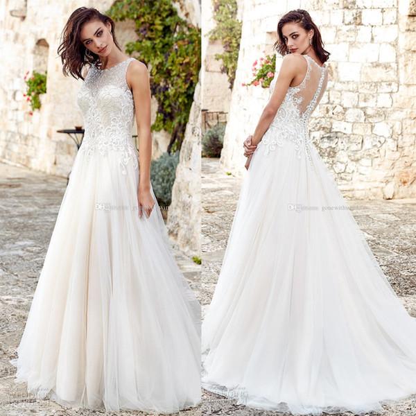 Großhandel Romantische Glamouröse Brautkleider 2018 Eddy K Braut ...