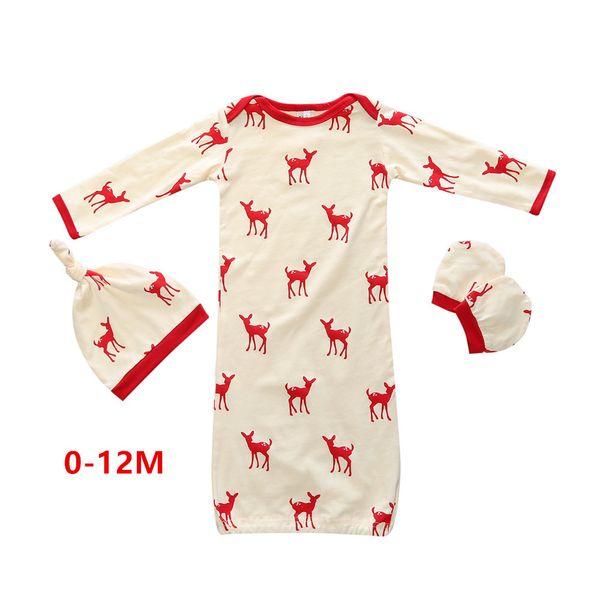 S (0-12M) ciervo rojo