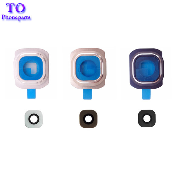 100pcs Back Rear Camera Holder Frame with Glass Lens Cover Ring and Sticker Glue for Samsung Galaxy S4 S5 i9600 S6 EDGE