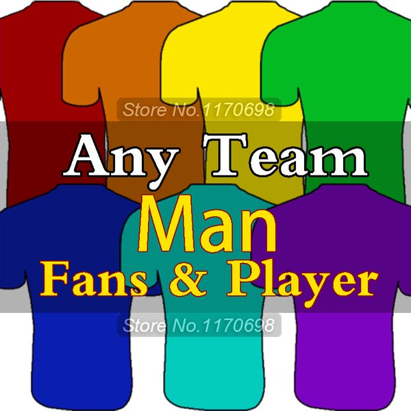 2016 TOP Thai Qualität Jedes Team Fußball Trikots Kostenlos Anpassen Camiseta de futbol Home Away 3rd Football Shirts
