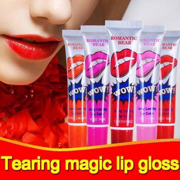 Romantic Bear Lip Gloss Nutritious Lipstick Makeup Peel-off Lasts For 24h Magic Lip Tattoo Lip Gloss Baby Lips Waterproof Lip Balm