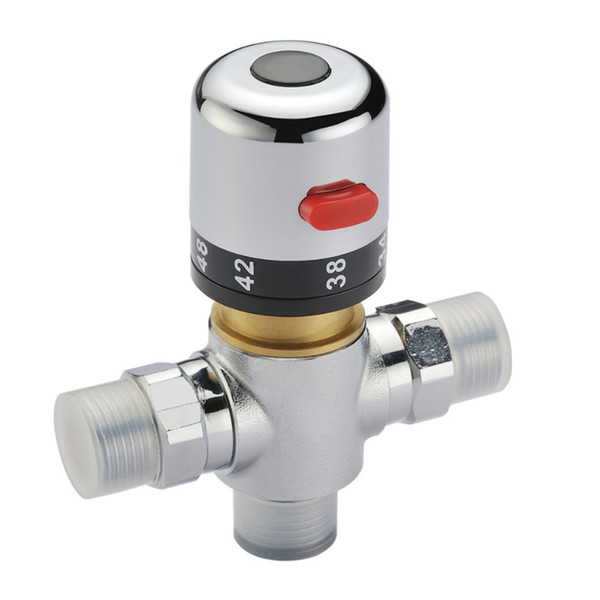 best selling Free shipping 38 degress mixer Valve Adjust the Mixing Water tap Temperature Thermostatic mixer solar water heater valve for bathroom shower