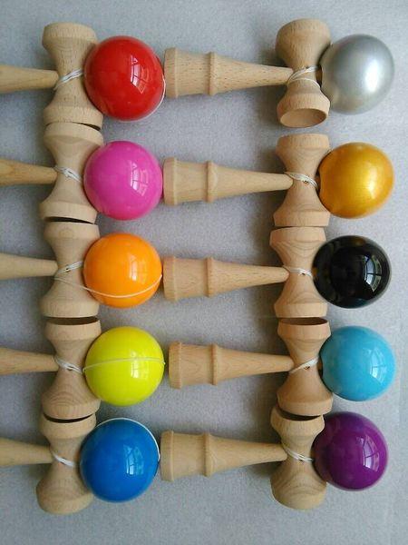 50 pçs / lote livre DHL 25 cm jumbo Kendama Bola Habilidoso Jogo de malabarismo Bola Brinquedo Tradicional Japonês Bolas Brinquedos Educativos 25 cm * 8