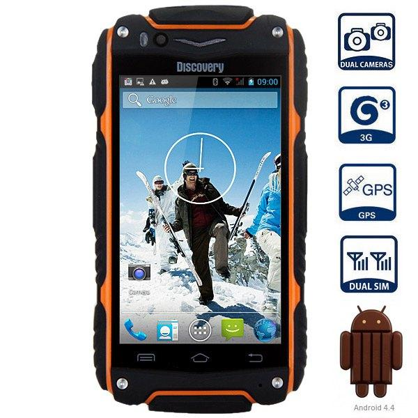 "DHL Free Discovery V8 3G SmartPhone waterproof shockproof 4.0"" IPS Android 4.4 Dual Core 5.0MP Dual Sim WCDMA cell phone"