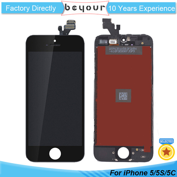 for iPhone 5 5S SE 5C LCD Screen Touch Digitizer Assembly Display Replacment Repair Parts Best A+++ Quality White Black Color