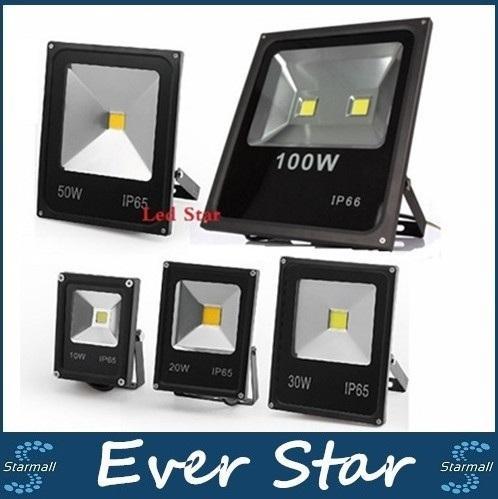 Ultradünnes LED-Flutlicht 10W 20W 30W 50W 100W Schwarzes Körper AC85-265V wasserdichtes IP65 Flutlicht-Scheinwerfer-im Freienbeleuchtung Wechselstrom 110-240V