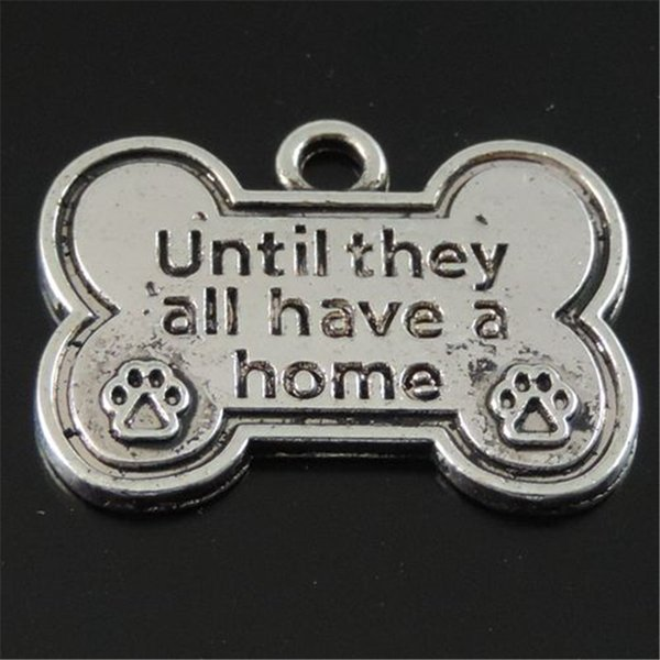 12PCS/Pack Antique Silver Zinc Alloy Dog Bone Pendant Charm Jewelry Finding 25*19*1MM 39547 jewelry making
