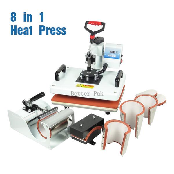 HM-CIN1(8in1) heat press (single heating) High pressure T-shirt heat press machine sublimation heat transfer machine (29cm*38cm)