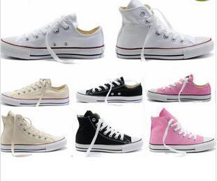 Nouvelle qualité Classique Low-Top High-Top toile Casual chaussures sneaker Hommes / Femmes chaussures en toile Taille EU35-46 détail