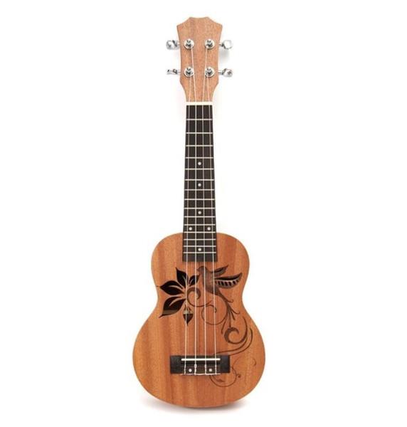 "top popular 21"" Mini Sapele Ukulele Ukelele Rosewood Fingerboard Guitar Mahogany Neck Delicate Tuning Peg Nylon String Matte Kids Gift 2021"