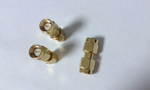 50pcs Gold plated SMA male to SMA male plug in series RF coaxial connector