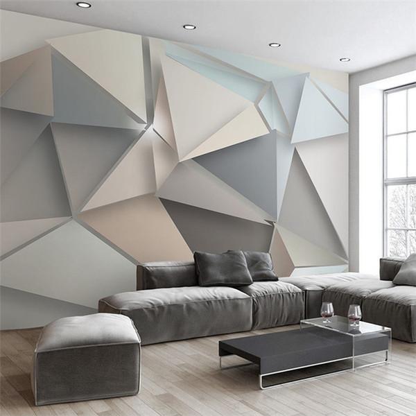 Acheter Personnalisé Photo Papier Peint 3d Moderne Tv Fond Salon Chambre Abstrait Art Peinture Murale Géométrique Revêtement Mur Papier Peint De