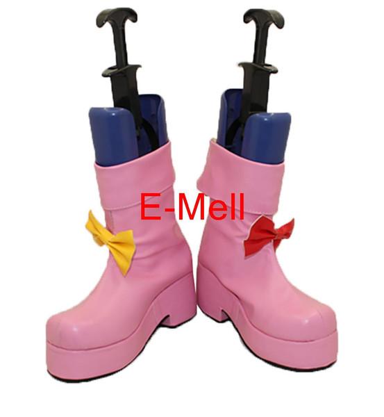 All'ingrosso-TouHou Project Patchouli Knowledge Boots Scarpe da donna Cosplay Custom Made Halloween di alta qualità
