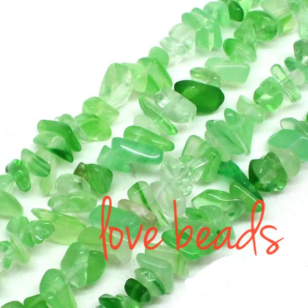 5mm-8mm Irregular Green Natural Agate Gravel Stone Loose Beads Strand 80CM For Woman Jewelry Diy Bracelet (F00377) wholesale