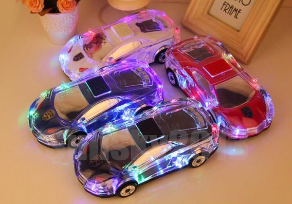 Car Model Bluetooth Crystal LED Light Speaker MLL-63 Wireless Stereo Portable Mini Speakers USB TF MP3 Player FM VS Pill Pulse for iPhone