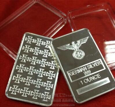 best selling 1 oz iron cross German Silver Bullion Bar,German Silver Bar+German Silver Bullion bar