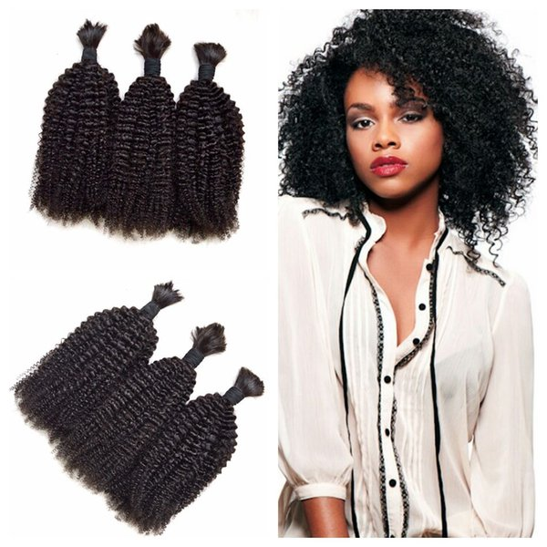 3Pcs/lot Bulk Hair Brazilian Kinky Curly Human Hair for Micro Braiding Hair Bulk No Attachment G-EASY