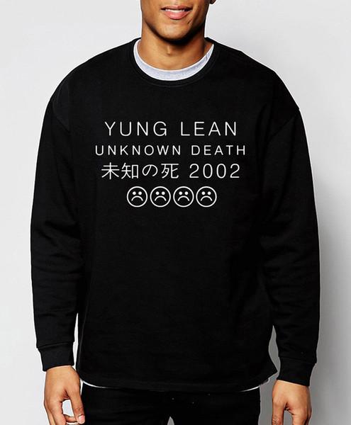 All'ingrosso-YUNG LEAN Unknown Death Sad Boys 2016 nuovo autunno inverno moda uomo felpa stile hip hop abbigliamento di marca streerwear con cappuccio