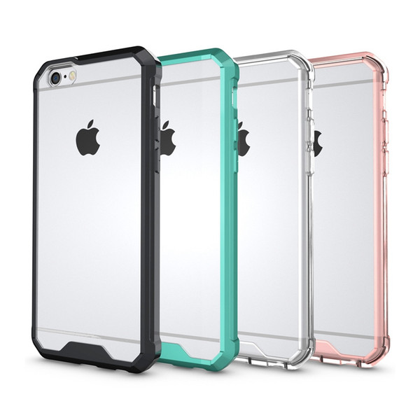 Shockproof Transparent Case For iPhone 6s Plus Soft TPU Bumper Hybrid Clear Back Cover Air Cushion Case For Apple iPhone 6 6s Plus