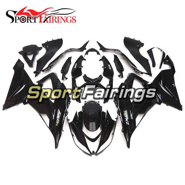 Full Fairings For Kawasaki ZX6R 636 2013-2015 ABS Plastic Injection Motorcycle Bodywork Cowlings Body Kit Gloss Black Carenes New