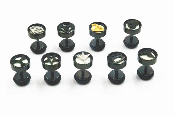 50e4cc1eaf445 2019 LOTBody Jewelry Mix Logos Stainless Steel Fake Ear Plugs Illusion Ear  Tunnels Fake Plugs Men/Women Earring Ear Studs Glow In Dark 8mm From ...