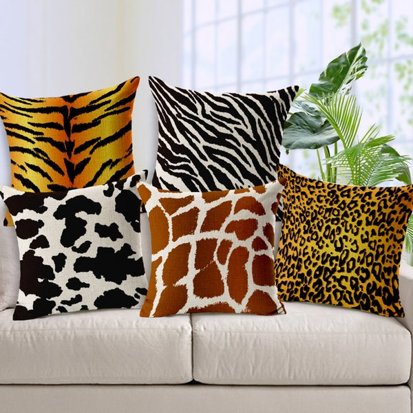Groovy Zebra Leopard Tiger Custom Cushion Covers Animal Pattern Throw Pillows Cases 45X45Cm Decorative Pillows Covers Home Decor Outdoor Replacement Cushions Uwap Interior Chair Design Uwaporg