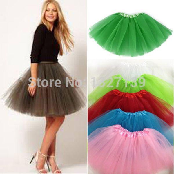 T-shirt Tulle Mini Organza 3 en gros-Mode femmes fille jupe jupe