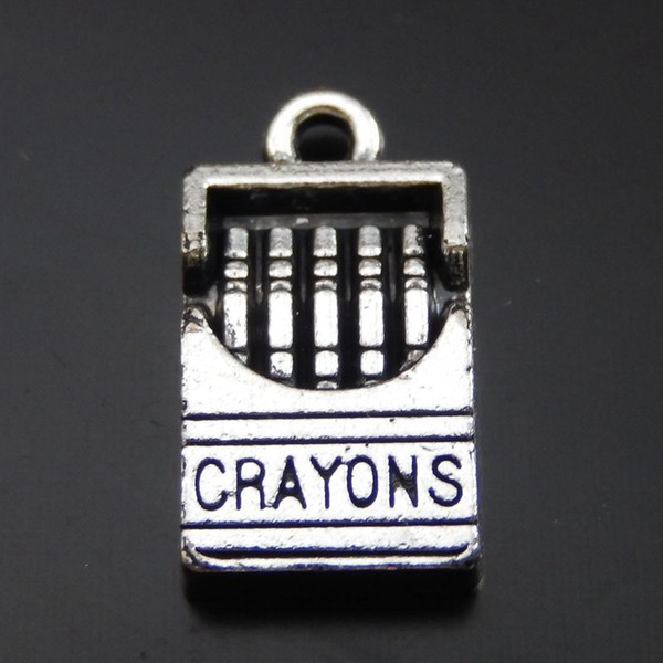 20PCS Antique Silver Alloy Cigarette Box Pendant Charms Jewelry Finding 16*9mm 39988 jewelry making
