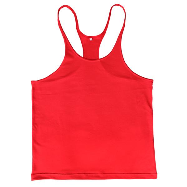 Wholesale-Plain Gym Tank Top Men Singlet Bodybuilding Stringers Sleeveless Clothes Gym Fitness Vest Muscle Shirt Clothing