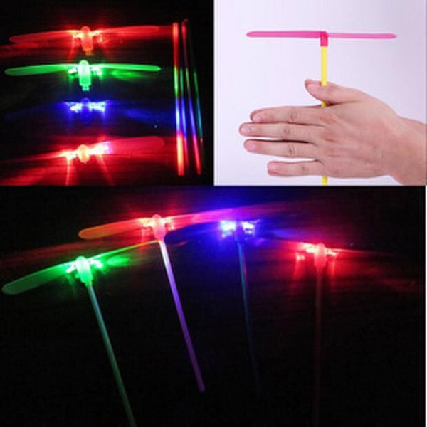 free shipping whilesale Children's toys flying fairy stall wholesale outdoor toys luminous flash bamboo dragonfly hand push UFO Frisbee