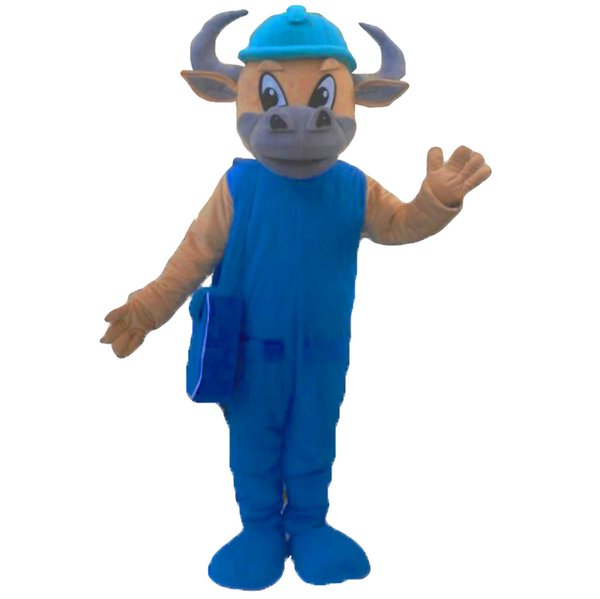 Bull Mascot Costumes Cartoon Character Adult Sz 100% Real Picture