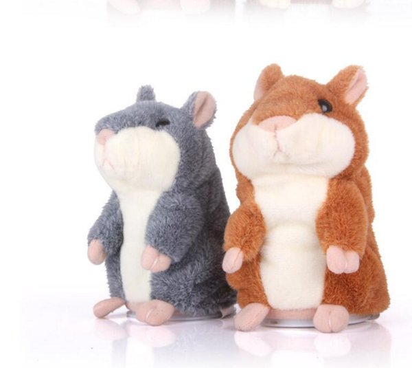3 Colors Free Shipping Hot Sale Talking Hamster From China Mouse Pet Plush Toy Birthday Gift for Kids