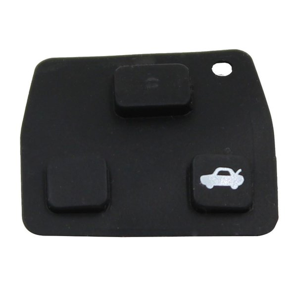 3 Car Remote Entry Key Fob Black Replacement Rubber Pads For Toyota New