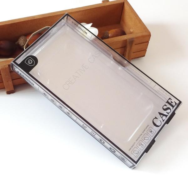 Черная коробка волдыря розничного пакета окна PVC цветастой конструкции роскошная упаковывая на случай сотового телефона iphone 8 7plus