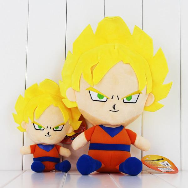 Anime Dragon Ball Super Saiyan Son Goku Plush Soft Stuffed Doll Toy For Kids Gift 2styles