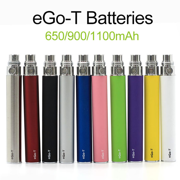 Full Ego t Battery Ego-t Batteries 510 Thread Atomizer Clearomizer Vaporizer Mt3 CE4 CE5 CE6 650/900/1100mAh In Stock Fast Shipping