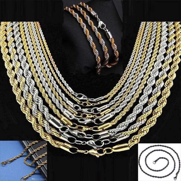 Acier Inoxydable Corde homme Titane acier Collier pendentif Fashion Jewelry Chain