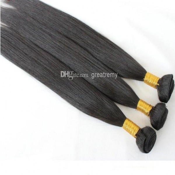 100% Chinese Virgi Hair 3pcs/lot Remi Human Hair Weave Silky Straight Drop Shipping Natural Color Dyeable Bellahair Greatremy