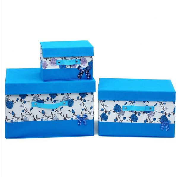 25x20x17cm sizes Portable Folded non-woven fabric underwear storage boxes&bins outdoor traving use containing box home storage use boxes
