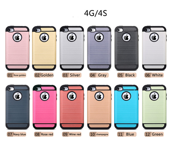 2016 New Products TPU And PC Shockproof 4 Corners Protect Cheap Cell Phone Case For iPhone 4/4s